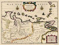 Venezuela - Blaeu 1680 - 23.00 x 29.78