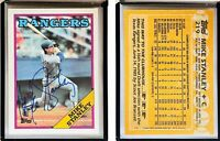 Mike Stanley Signed 1988 Topps #219 Card Texas Rangers Auto Autograph