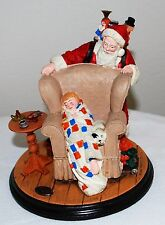"Norman Rockwell Heirloom Santa Collection ""CHRISTMAS DREAM"" w/COA 1992"