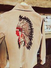 New listing Vintage 1970s Montgomery Ward Indian Head Print Corduroy Shirt Xs rare