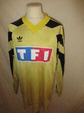 Maillot de football vintage porté Coupe de France N° 7 Adidas Jaune Taille XL