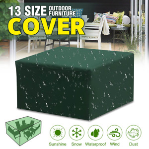 Green Waterproof Garden Patio Furniture Cover Covers Rattan Table Cube