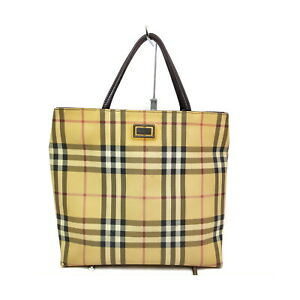 Burberry London Hand Bag  Light Brown PVC 1420137