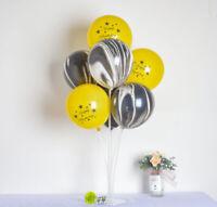 Ballon De Décoration D'anniversaire 10PCS Ballon De Latex Anniversaire Noir D'or
