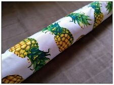 FILLED DOOR SNAKE- Funky Pineapples-new handmade Draught Excluder, Draft Stopper