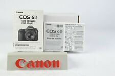 Canon EOS 6D (WG) (N) Camera Instruction Manual English + Spanish GC (085)