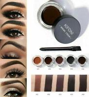 5 Colors Eyebrow Cream Tint Pomade Waterproof Gel Enhancer Eye Brow + Brush Set