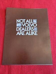 Original Vintage Brochure Not all Volvo dealers are alike excellent