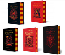 NEW Harry Potter Gryffindor Edition 5 Hardcover Books Set - Phoenix, Chamber....