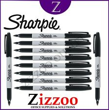 Sharpie Twin Tip Permanent Marker Black Boxed 12 S0811100