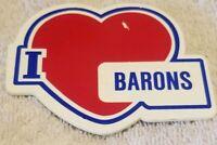I Love Barons Vintage Pin back Pin Collectible Button Badge