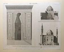 Eau-forte et burin, Description de l'Égypte, Le Caire, XVIII eme
