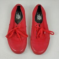 Vans Off The Wall Sneakers Canvas Low Top Skate Shoes Red Mens 9 Womens 10.5