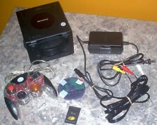 BLACK NINTENDO GAMECUBE CONSOLE SYSTEM COMPLETE SPLINTER CELL CHAOS THEORY