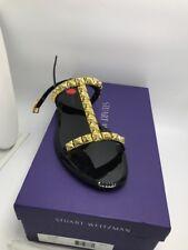 $235 Stuart Weitzman black ballet jelly melrose sandals size 7