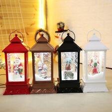 Christmas LED Night Light Lamp Santa Claus Snowing Music Box Lantern Decoration