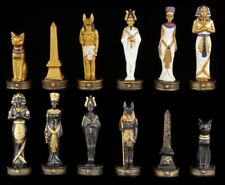 piezas de Ajedrez juego - Egipto ORO Y NEGRO - Ajedrez Figuras