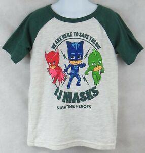 PJ Masks Boys T-Shirt New Green Jumping Beans Officially Licensed