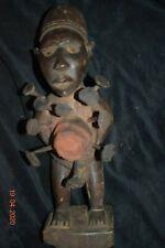 """Sale! Bakongo Yombe Fetish, Glass Eyes 1900S Huge 12"""" Prov."""