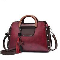New Women's Leather Fashion Messenger Handbag Shoulder Tassel Tote Party Purse