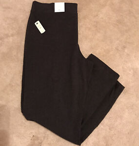 T By Talbots Wimens Pull On Leggings Pants Straight Dark Gray Size XL NWT $69.50