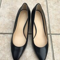 Women Shoes Cole Haan Grand OS Size 8 C Lena Black Leather Pumps Almond Toe