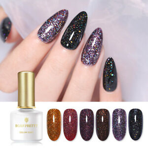 BORN PRETTY 6ml Glittery Sequins Gel Nail Polish Glistering UV Gel Deep Colours