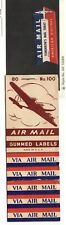 Us Airmail Labels American Airlines single, + booklet of 100 generic 1970's Mnh