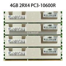 For Samsung 4GB 8GB 16GB DDR3-1333 MHz PC3-10600R 2RX4 Server 1.5V REG RAM ECC