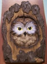 Garden Accent Tree Face Owl Wall Fence Shed New colored polyresin