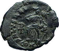 ARCADIUS 388AD Authentic Ancient Genuine Roman Coin VICTORY Angel Captive i66054