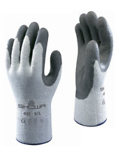 10 x SHOWA 451 Thermo Winter Warm Cold Grip Gloves Latex Palm Coated Gardening