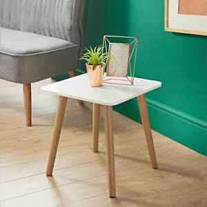 Malmo White Square Side Table A Elegant Addition To Your Home W40 x D40 x H41cm