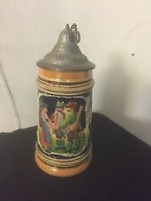 "Beer Stein ""Macht Nie Lebens Mud"" 6""X3"". Germany C7pix4size & detail.MAKE OFFER"