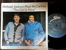 "Michael Jackson Paul McCartney  Pop Rock 7"" 33 RPM The Girl Is Mine Epic 46556"