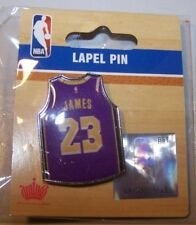 f557c32859f NBA Los Angeles Lakers LeBron James #23 Purple Jersey Pin Basketball AMINCO  NIP