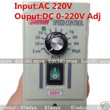 AC 220V 400W 1-phase DC Motor Speed Controller 0-220V Adjustable Driver Control