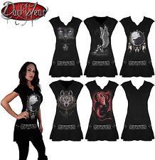 SPIRAL DIRECT Cintura De La Viga Vestido Mini/Rock/Metal/Rosas/Angel/Mujer/Niña/