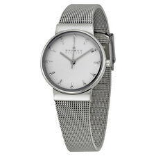 Skagen Ancher Silver Dial Stainless Steel Mesh Ladies Watch SKW2195
