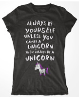I Wish I Was A Unicorn Ladies T-Shirt Tee Top Sizes Small - XXL