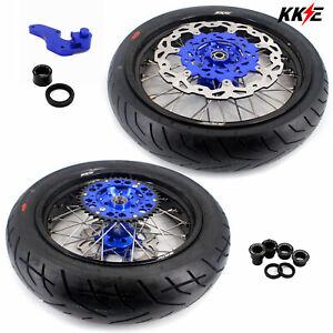 KKE 3.5/4.25 Supermoto Wheels Set Tires For Yamaha WR250F 01-19 WR450F 2003-2018