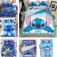 3D Disney Stitch Kids Bedding Set Duvet Cover Pillowcase Comforter/Quilt Cover