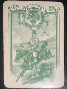 Playing Swap Cards 1 Old English Wide Jumping Horse Fox Hunt