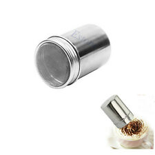 Stainless Chocolate Dredge Shaker Icing Sugar Salt Cocoa Coffee Flour Sifter Lid