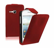 RED Leather case Mobile Phone saver Samsung Galaxy Young GT-S6310L / GT-S6310N
