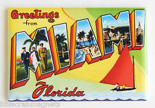 Greetings from Miami Florida FRIDGE MAGNET (2 x 3 inches) state travel souvenir