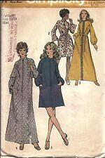 9722 Vintage Simplicity Sewing Pattern Misses 1970s Robe 2 Lengths Raglan Sleeve