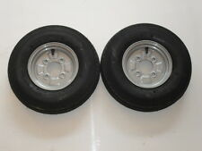 "2 OFF 400 X 8  4 PLY 4 STUD  4"" PCD TRAILER WHEELS AND TYRES  NEW ITEMS"