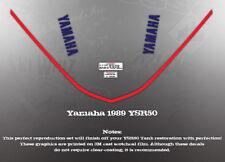 YAMAHA 1989 YSR50 FUEL GAS TANK DECAL KIT LIKE NOS
