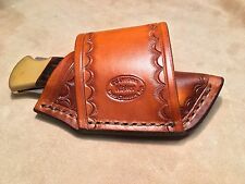 Custom Leather Crossdraw Sheath for BUCK 110/112 Knife